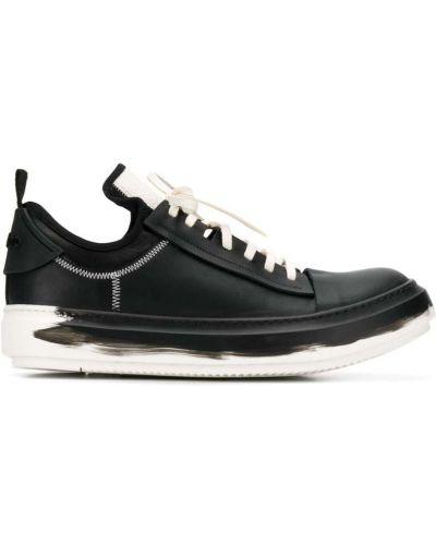 Черные кроссовки на каблуке Artselab