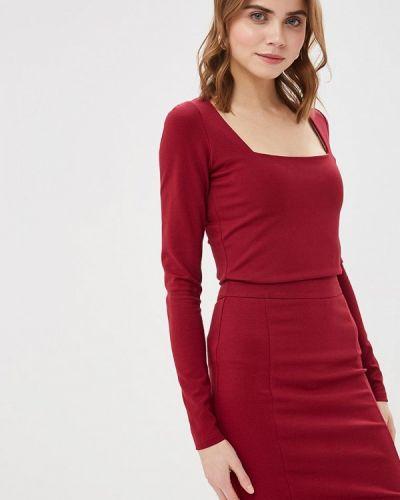 Блузка с длинным рукавом красная бордовый Imocean