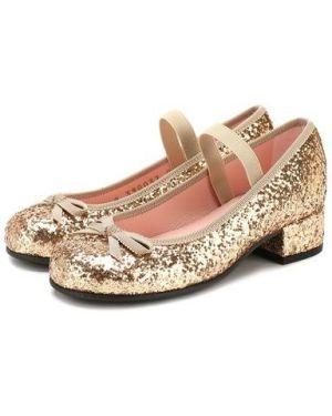 Туфли на каблуке с бантом Pretty Ballerinas