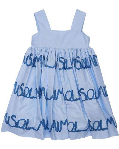 Платье с вышивкой из поплина Mi.mi.sol.