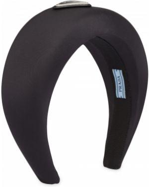 Ободок металлический - черный Prada