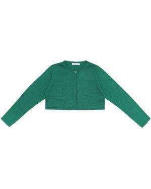 Zielony kardigan bawełniany Dolce & Gabbana Kids