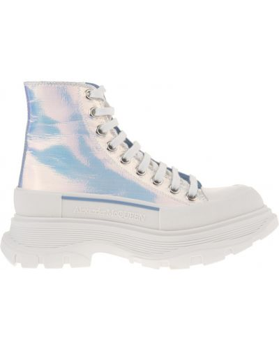 Sneakersy wysokie - szare Alexander Mcqueen