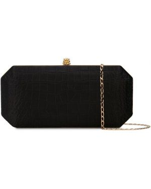 Кожаная золотистая черная кожаная сумка Tyler Ellis