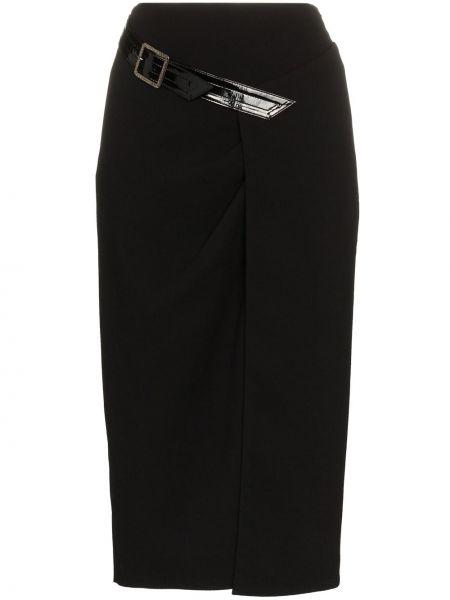 Czarna spódnica ołówkowa z wysokim stanem kopertowa Givenchy