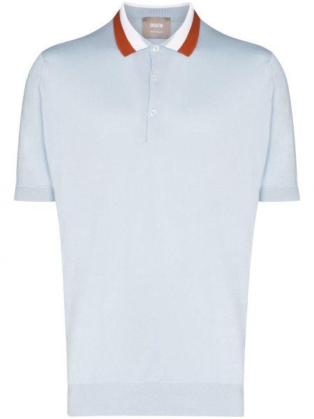 Синяя классическая классическая рубашка с воротником с манжетами Lou Dalton