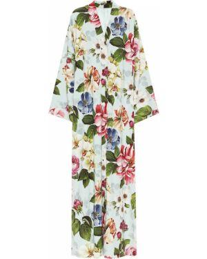 Летнее платье макси с цветочным принтом Dolce & Gabbana