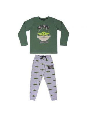 Piżama bawełniana - zielona The Mandalorian