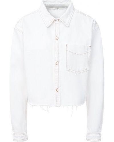 Хлопковая белая джинсовая рубашка Grlfrnd