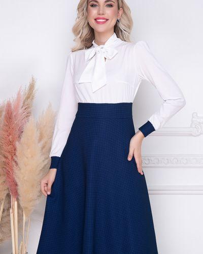 С рукавами трикотажное белое платье макси Bellovera