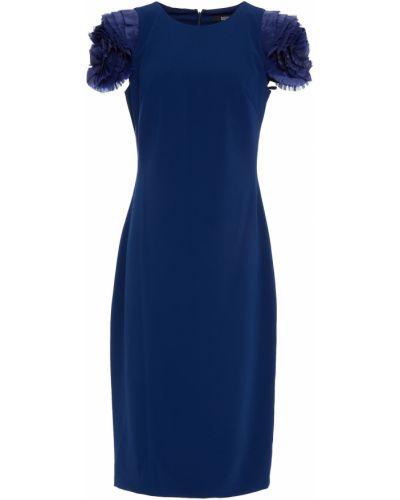 Платье из крепа Badgley Mischka