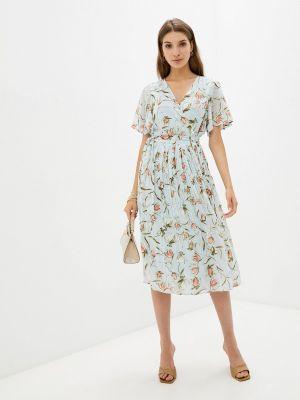 Голубое платье с запахом Zibi London
