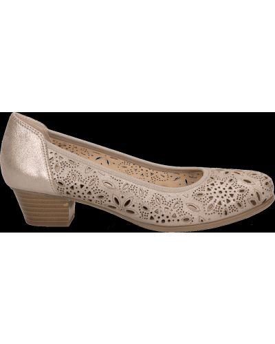 Кожаные туфли - бежевые Caprice