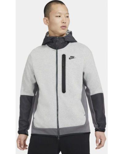 Szary z rękawami bluzka z kapturem Nike