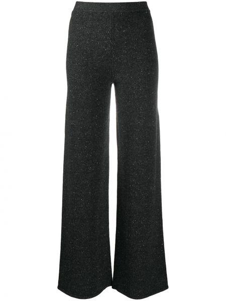 Кашемировые брючные серые прямые брюки Gentry Portofino