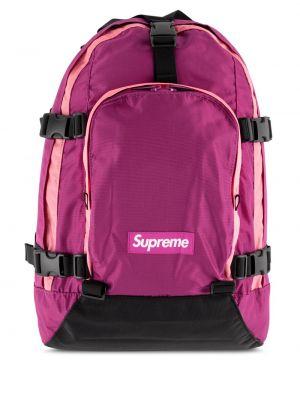 Różowy plecak miejski z siateczką Supreme