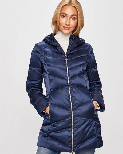 Прямая синяя стеганая куртка Ea7 Emporio Armani