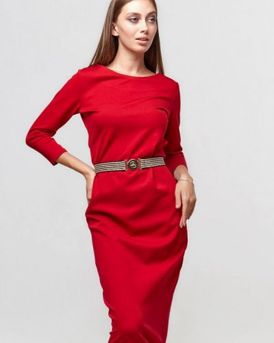 Красное платье-футляр Ora