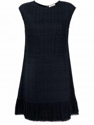 Платье с бахромой - черное Charlott