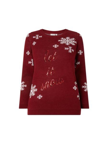 Prążkowany sweter z cekinami Junarose