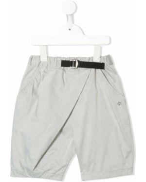 Прямые хлопковые серые брюки с поясом Fith