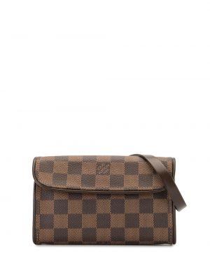 Коричневая парусиновая поясная сумка винтажная Louis Vuitton