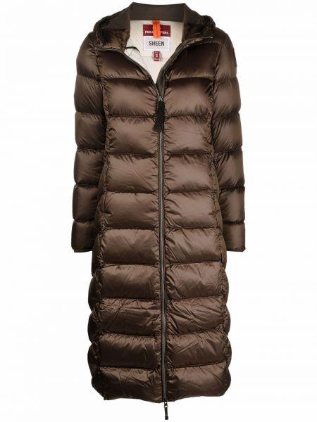 Коричневое пальто с карманами Parajumpers