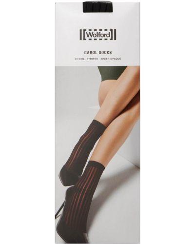 Черные носки в полоску Wolford