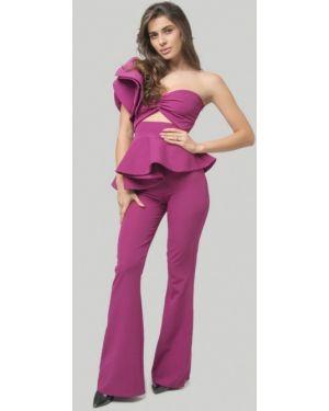 Фиолетовый облегающий костюмный брючный костюм Lipinskaya Brand