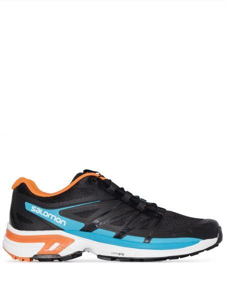 Спортивные нейлоновые черные кроссовки Salomon S/lab