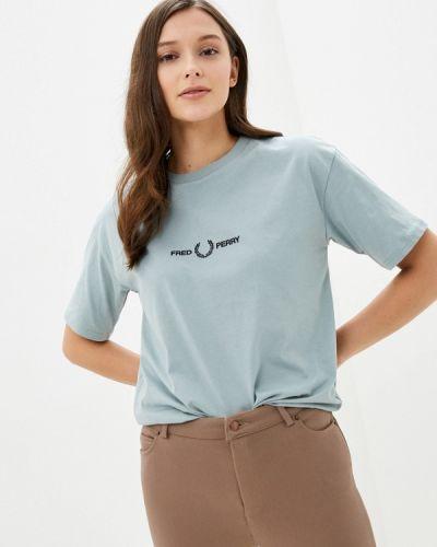 Бирюзовая футболка с короткими рукавами Fred Perry