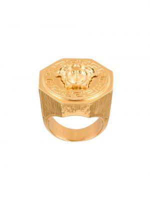 Pierścień metal Versace