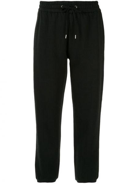 Нейлоновые черные брюки с карманами с манжетами James Perse