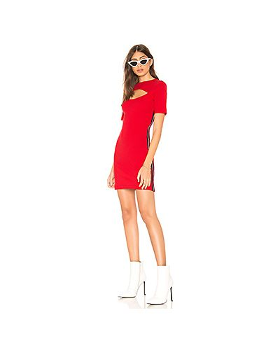 Платье в рубчик красный The Fifth Label