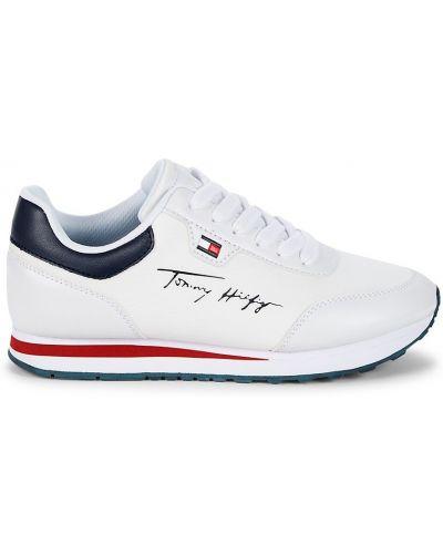 Кружевные кроссовки на каблуке на шнуровке Tommy Hilfiger