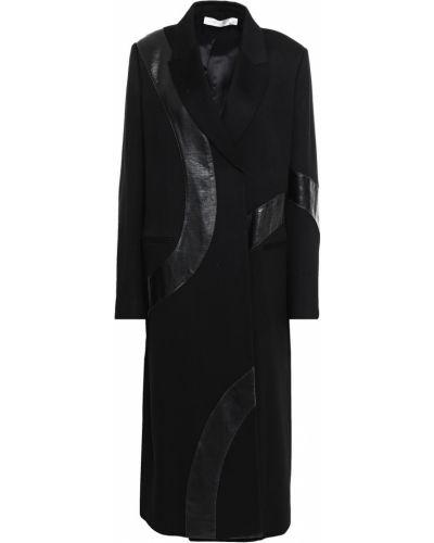 Черное кашемировое пальто с карманами Victoria Beckham