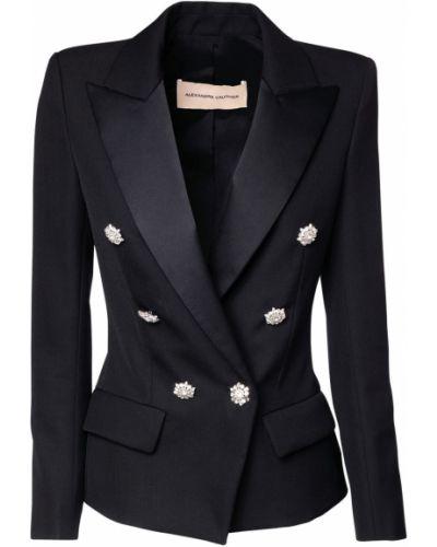 Черный приталенный пиджак с карманами Alexandre Vauthier
