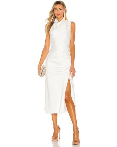 Деловое белое платье с подкладкой Misha Collection