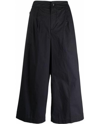 Черные с завышенной талией укороченные брюки свободного кроя Woolrich