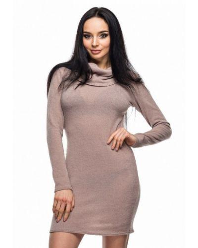Платье осеннее бежевое 0101 Brand