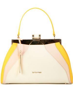 Кожаная сумка - желтая Cromia