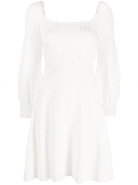 Вязаное белое платье с вырезом Pinko