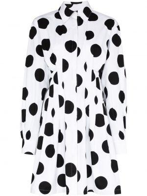 Платье макси в горошек на пуговицах Carolina Herrera