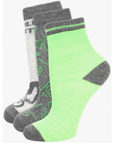 Носки серые зеленый Infinity Kids