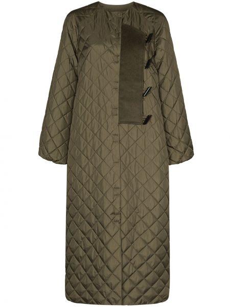 Стеганое зеленое стеганое пальто Ganni