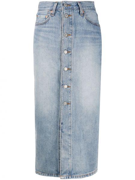 Джинсовая юбка на пуговицах с завышенной талией Levi's®