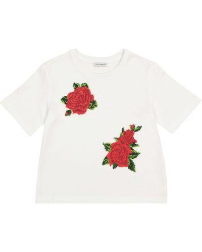 Лонгслив - белая Dolce & Gabbana Kids