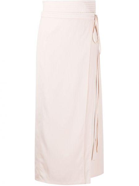 Spódnica ołówkowa jedwab różowy Lemaire
