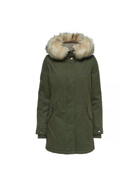 Пальто с капюшоном до колен Only