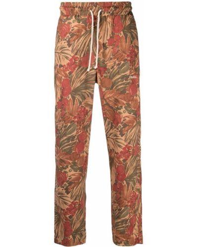 Brązowe spodnie z haftem Drole De Monsieur